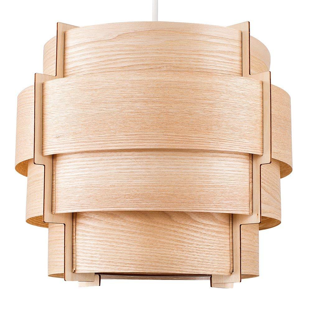 Lampara circular madera