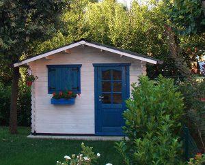 casas de madera para jardin